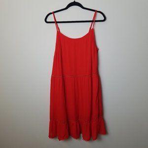 Old Navy Cutout Ruffle Dress Size L
